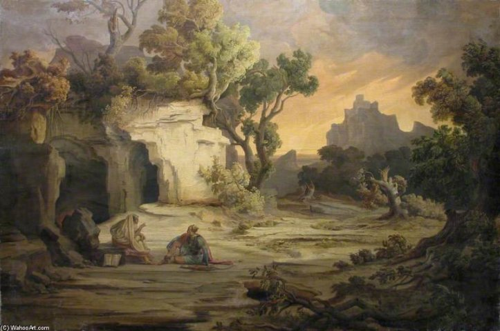 August+Albert+Zimmermann-Landscape+With+Aeneas+And+The+Cumaean+Sibyl