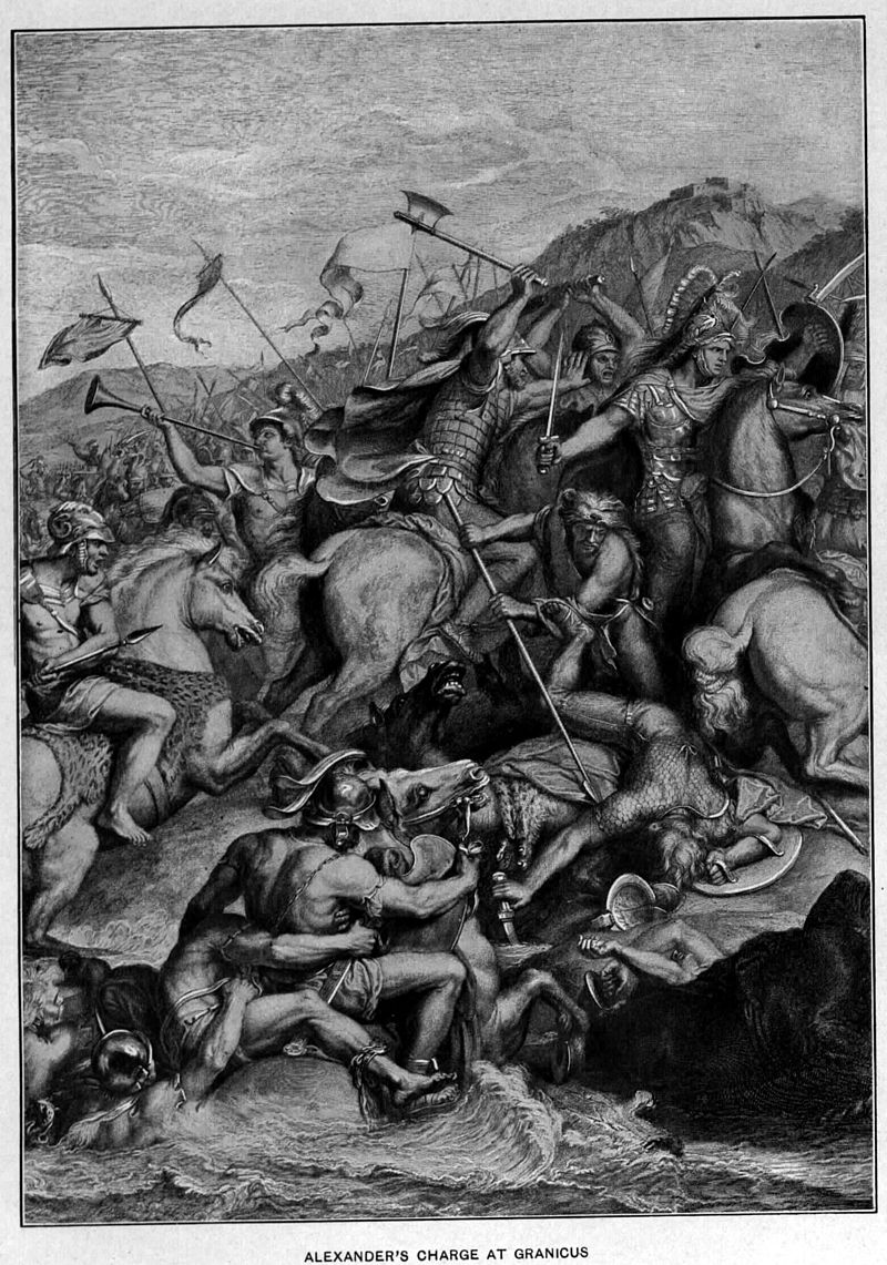 800px-black_cleitus_saves_alexander_in_the_charge_at_the_granicus_19th_century_adaptation_from_the_painting_by_charles_le_brun