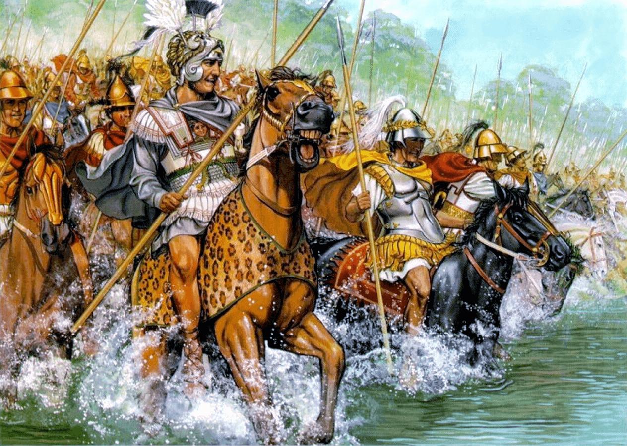 batalla-de-granico-alejandro-cruzando-el-rio