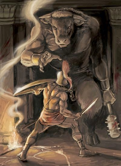 Teseo e il Minotauro Teseo-y-el-minotauro-unmitocorto